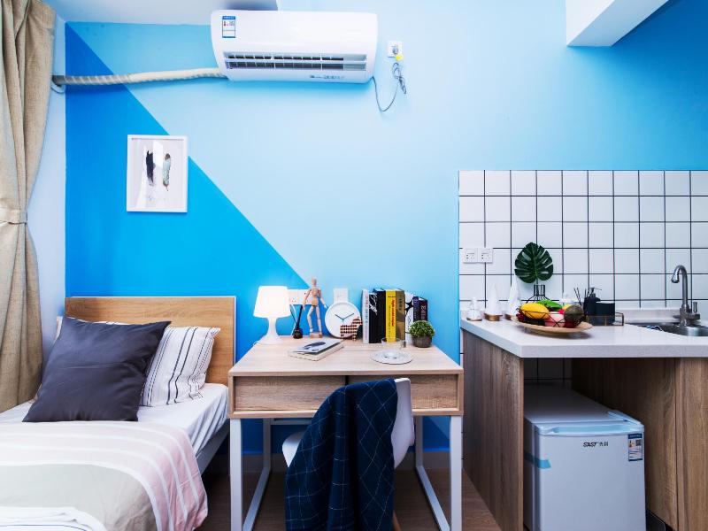 单房带厨房阳台 · 泊寓-龙城上角环公社