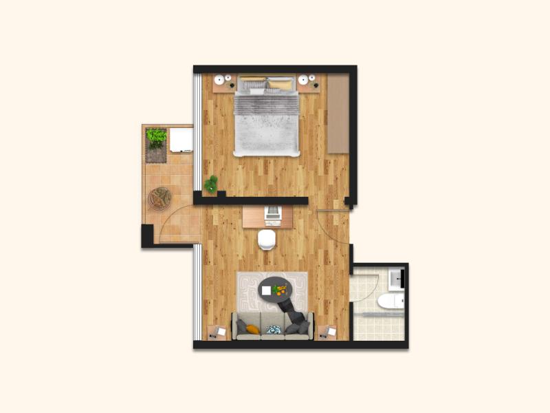大一房一厅 · 泊寓-布吉旗舰店